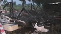 Caravan brandt uit in Staphorst