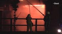 Biggen en varkens omgekomen bij zeer grote brand in Agelo