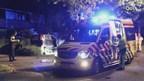 De behoorlijk gehavende auto is afgesleept