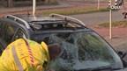 Ongeval vrouw met twee kinderen op de fiets