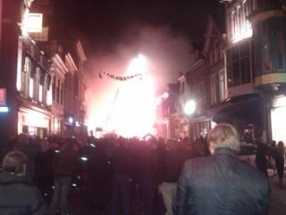 Brand Kampen. Foto: @MartinLdeJong
