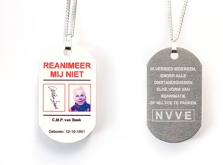 de niet-reanimerenpenning van de NVVE