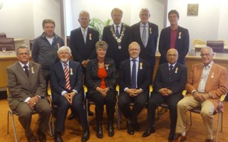 De gedecoreerden in Zwolle