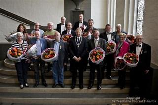 De andere gedecoreerden in Enschede