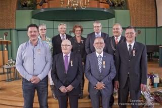 De gedecoreerden in Oldenzaal
