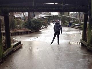 Schaatsen in Giethoorn. Foto: Marianne Lennips