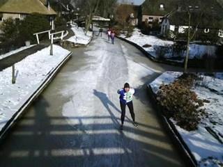 Schaatsen in Giethoorn