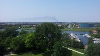 De rookwolk gezien vanuit Zwolle
