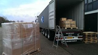 Deze vrachtwagen rijdt morgen naar de haven van Rotterdam