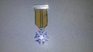 De medaille na de vijfde keer; ik koester