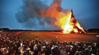 Record paasvuur van Espelo in 2012