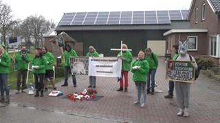Protest bij konijnenfokkerijen eerder dit jaar in Overijssel