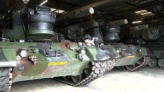 De tanks in het NAVO-depot in Vriezenveen