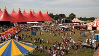 Het terrein van Dicky Woodstock Popfestival