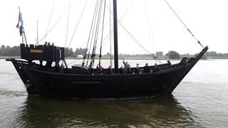 Replica van een kogge zoals in de IJssel gevonden is