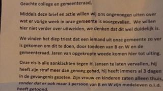 Brief van de actievoerders in Staphorst