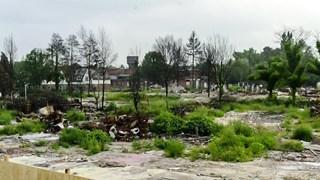 Het rampgebied in Enschede zestien jaar geleden