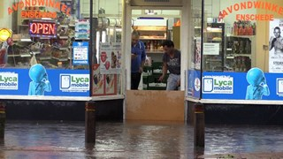 Veel wateroverlast in 2016 in Enschede door regenbuien