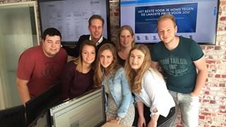 Het team van tinki.nl, met Gerben Lievers als tweede van links