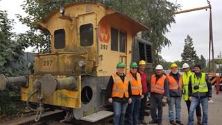 Vrijwilligers van de Stichting Industrieel Erfgoed Deventer