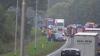 Het ongeluk op de N35 in Enschede, op 25 oktober 2016