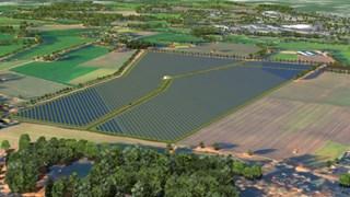 Oorspronkelijk ontwerp zonnepark bij Overdinkel