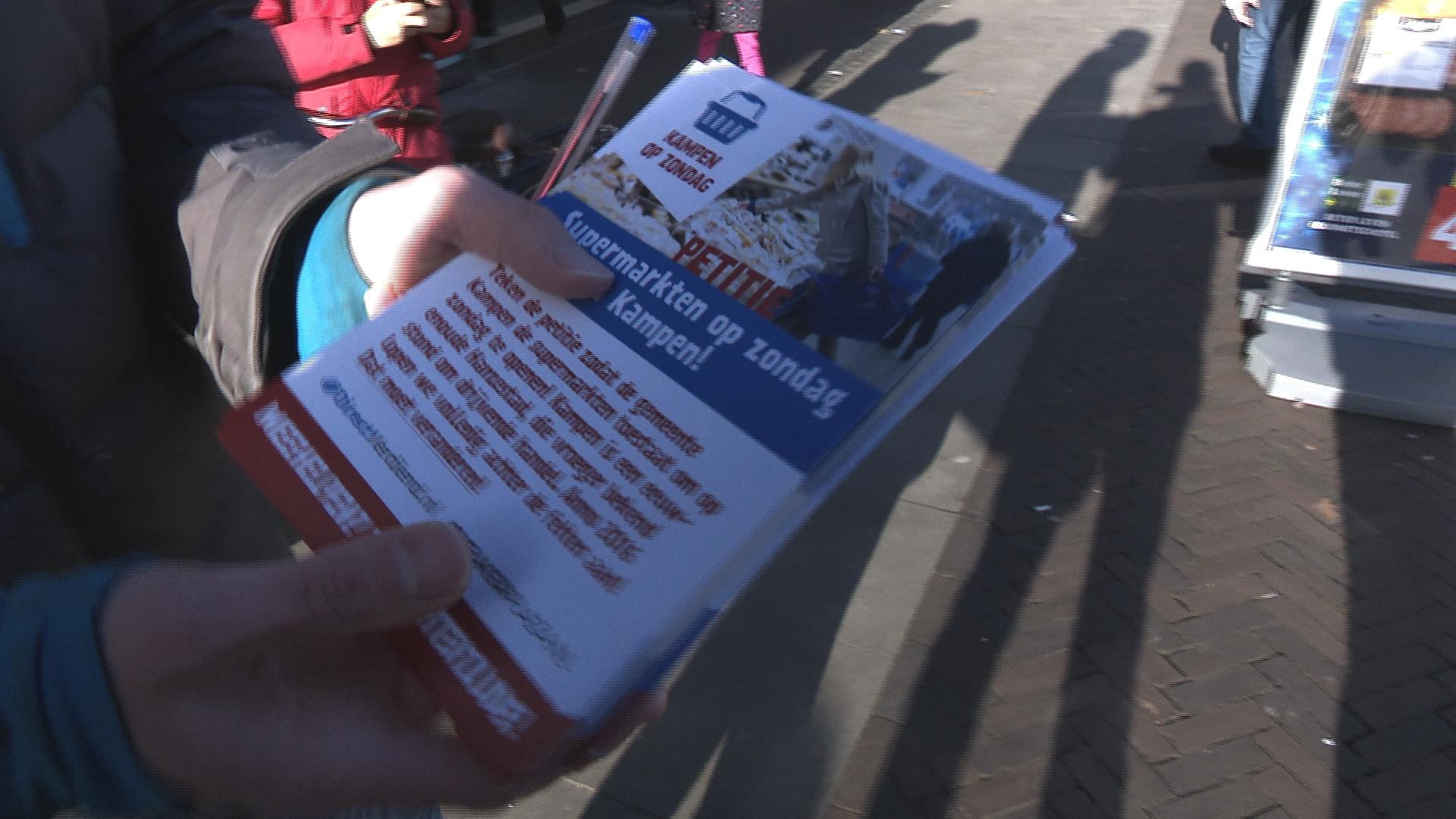 Acties voor én tegen koopzondag in Kampen
