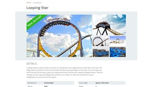 De advertentie van de Looping Star
