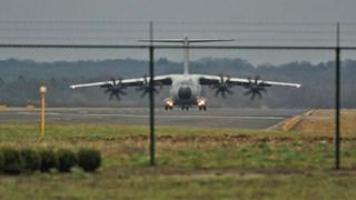 Airbus landt op Twente Airport