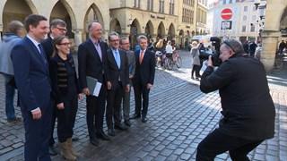 Onno van Veldhuizen twee dagen Oberbürgemeister van Münster