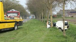 Auto in de sloot N35 bij Raalte