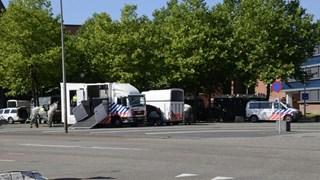Politiemacht op de been in Enschede