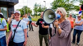 Demonstranten in Borne