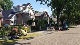 Gasleiding geraakt in Nieuwleusen