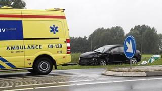 Bestuurder gewond naar het ziekenhuis