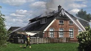 Brand in boerderij Dalfsen