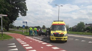 Geen gewonden bij ongeval met motor