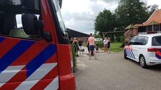 Brandweer schiet te hulp op camping