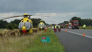 Traumahelikopters staan klaar