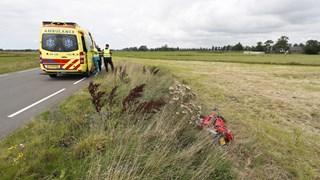 Motorrijder gewond na ongeval