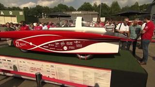 Zonneauto van Solar Team Twente