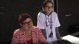 Boekenschrijfster Simone Foekens en dochter Mirjam