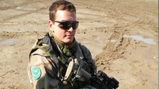 Gert van 't Oever tijdens de missie in Afghanistan