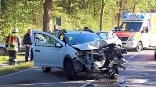 Twee automobilisten gewond bij frontale aanrijding Gronau