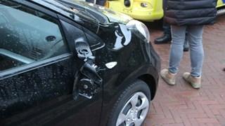 Auto liep schade op
