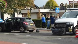 De voertuigen botsten op elkaar in Hardenberg