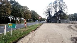 Het huis staat midden op de route van de nieuwe N35