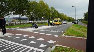 De fietser was onderweg naar het ziekenhuis