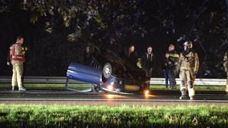 Ongeluk op A32 bij Steenwijk