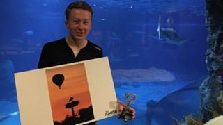 Wisse met zijn prijswinnende foto